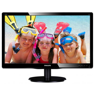 Монитор 19.5' Philips 200V4QSBR/00,01 Black, WLED, MVA, 1920x1080, 8 мс, 250 кд/м2, 3000:1, 178°/178°, DVI/VGA