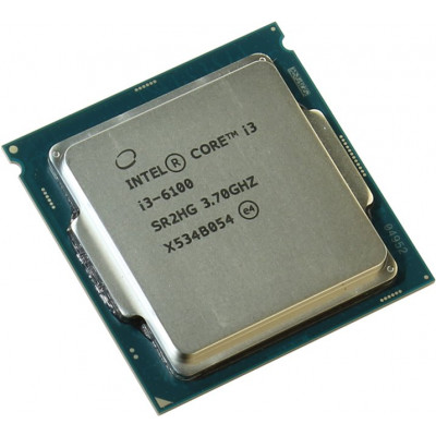 Процессор Intel Core i3 (LGA1151) i3-6100, Tray, 2x3,7 GHz, HD Graphic 530 (1050 MHz), L3 3Mb, Skylake, 14 nm, TDP 51W (CM8066201927202)
