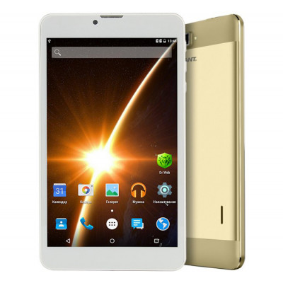 Планшетный ПК 7' Assistant AP-755G Gold / емкостный Multi-Touch (1280х800) IPS / SC7731 Quad Core 1.3GHz / RAM 1Gb / ROM 8Gb / microSD (max 32Gb) / GPS / 3G / Wi-Fi / BT / 2 Cam (2Mp + 0,3Mp) / 2800 mAh / Android 5.1
