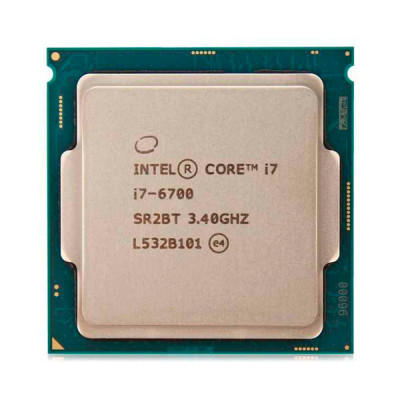 Процессор Intel Core i7 (LGA1151) i7-6700, Tray, 4x3,4 GHz (Turbo Boost 4,0 GHz), HD Graphic 530 (1150 MHz), L3 8Mb, Skylake, 14 nm, TDP 65W (CM8066201920103)