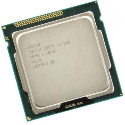 Процессор Intel Core i3 (LGA1155) i3-2100, Tray, 2x3,1 GHz, HD Graphic 2000 (1100 MHz), L3 3Mb, Sandy Bridge, 32 nm, TDP 65W (CM8062301061600)