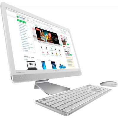 Моноблок Asus Vivo AiO V221ICGK-WA005D, White, 21.5' LED FullHD (1920x1080), Intel Core i3-6006U (2 x 2.0GHz), 4Gb DDR4, 1Tb HDD, nVidia GeForce 930MX (2Gb), WiFi b/g/n, BT4.0, Web, 4xUSB3.1/1xUSB2.0, HDMI, DOS (90PT01U2-M01860)