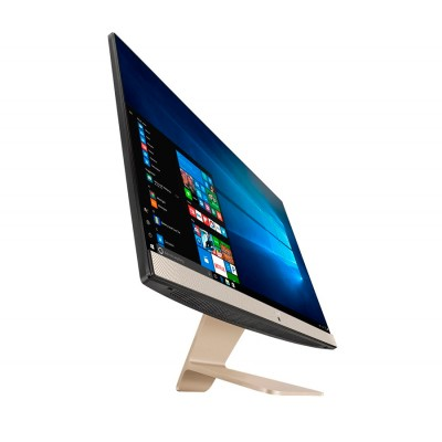 Моноблок Asus Vivo AiO V241ICGK-BA012D, Black/Gold, 23.8' LED FullHD (1920x1080), Intel Pentium 4405U (2 x 2.1GHz), 4Gb DDR4, 1Tb HDD, nVidia GeForce 930MX (2Gb), WiFi a/c, BT4.1, Web, 4xUSB3.1/1xUSB2.0, HDMI, DOS (90PT01W1-M02840)