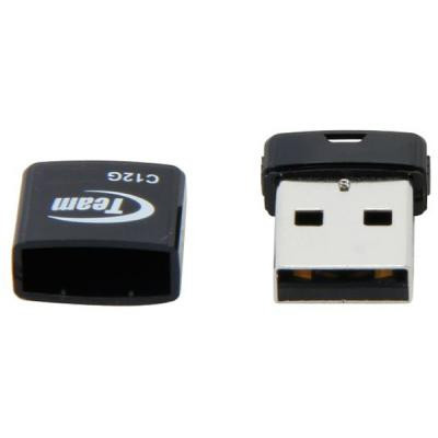 USB Flash Drive 16Gb Team C12G Black / 20/10Mbps / TC12G16GB01