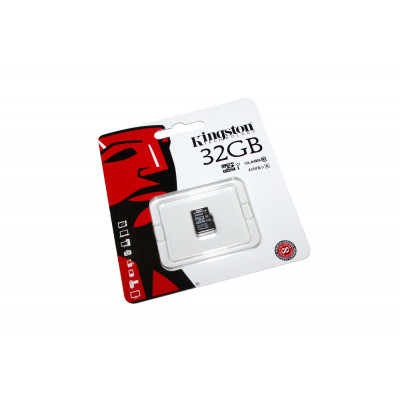 Карта памяти microSDHC, 32Gb, Class10 UHS-I, Kingston, без адаптера (SDC10G2/32GBSP)