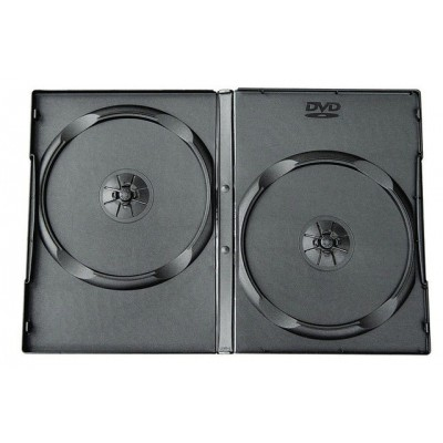 Box DVD/CD (13.5 мм х 19 мм) на 2 диска, 14 mm, Black, 100 шт