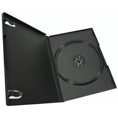 Box DVD/CD (13.5 мм х 19 мм) на 1 диск, 7 mm, Black, 100 шт