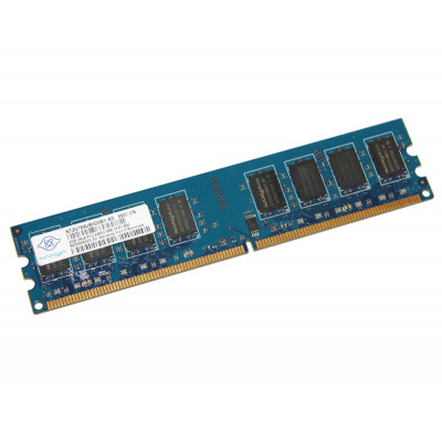 Память 2Gb DDR2, 800 MHz (PC6400), Nanya, 11-11-11-28, 1.5V (NT2GT64U8HD0BY-AD)