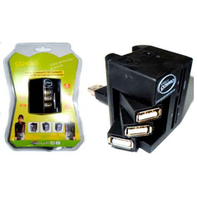 Концентратор USB 2.0 + Card Reader Siyoteam SY-H0011 USB 2.0 (3 USB + SD/SDHC/MMC/T-Flash/Micro SD/M