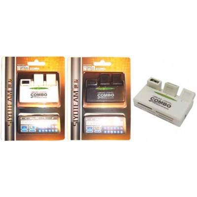 Концентратор USB 2.0 + Card Reader Siyoteam SY-H226 USB 2.0 (3 USB + SD/SDHC/MMC/T-Flash/Micro SD/Mi