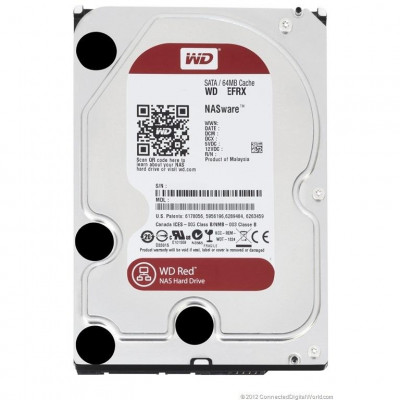 Жесткий диск 3.5' 1Tb Western Digital Red, SATA3, 64Mb, 5400 rpm (WD10EFRX)