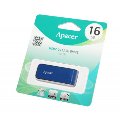 USB Flash Drive 16Gb Apacer AH334 Blue / AP16GAH334U-1