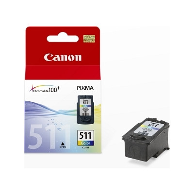 Картридж Canon CL-511, Color, iP2700, MP240/250/260/270/480/490, MX320/330/340/350, 9 мл (2972B007)