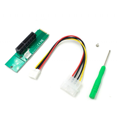Адаптер M2-PCI-e x4, MOLEX=>4pin, отвертка +, пакет