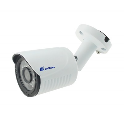 Камера наружная AHD EvoVizion AHD-837-100-M, White, 1 mp, 1/4' Sony, 720p / 25 fps, f=3.6 mm, 0.01 Lux, ИК подсветка до 20 м