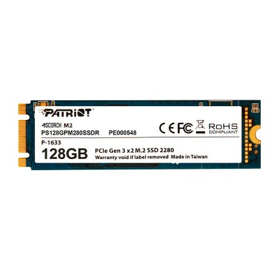 Твердотельный накопитель M.2 128Gb, Patriot Scorch, PCI-E 4x, TLC, 1700/415 MB/s (PS128GPM280SSDR)