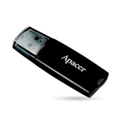 USB Flash Drive 16Gb Apacer AH322 Black / 10/3Mbps / AP16GAH322B-1