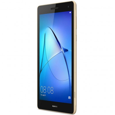 Планшетный ПК 7' Huawei MediaPad T3 (BG2-U01) Gold, емкостный (1024x600) IPS, MediaTek MT8127 1.3GHz, RAM 1Gb, ROM 8Gb, MicroSD (max 32GB), GPS, 3G, Wi-Fi, BT, 2 Cam (2Mp + 2Mp), 3100 mAh, Android 6.0