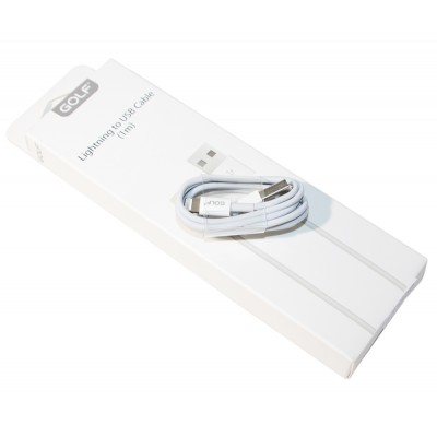 Кабель USB <-> Lightning, Golf GC-30i 1 м 2.1A , White