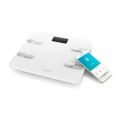 Весы напольные Meizu Smart Body Fat Scale (S1), Silver/White
