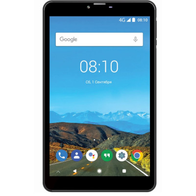 Планшетный ПК 8' Bravis NB871 Black, (1280x800) IPS, MediaTek MTK8321 Quad Core 1.2GHz, RAM 1Gb, ROM 16Gb, MicroSD (Max 32Gb), GPS, 4G, Wi-Fi, BT, 2 Cam (2 Mp + 0.3Mp), 4000 mAh, Android 8.1