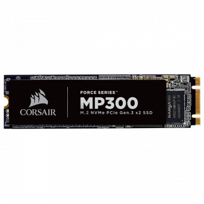 Твердотельный накопитель M.2 120Gb, Corsair Force MP300, PCI-E 2x, TLC 3D, 1520/460 MB/s (CSSD-F120GBMP300)