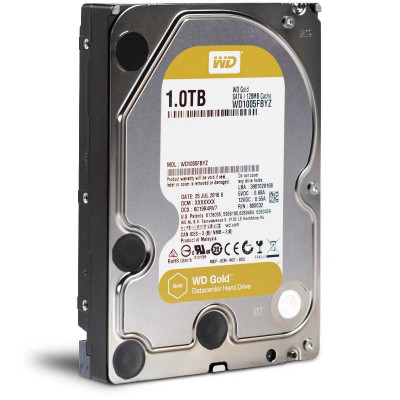 Жесткий диск 3.5' 1Tb Western Digital Gold, SATA3, 128Mb, 7200 rpm (WD1005FBYZ)