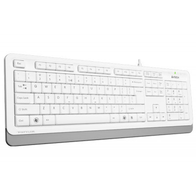 Клавиатура A4tech Fstyler FK10, Sleek MMedia Comfort, USB, White, (US+Ukrainian+Russian)