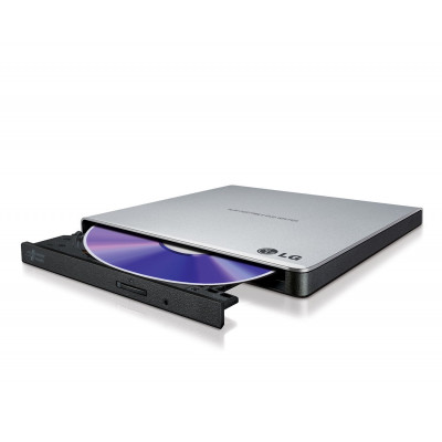 Внешний оптический привод H-L Data Storage GP57ES40, Silver, DVD+/-RW, USB 2.0 (GP57ES40.AHLE10B)