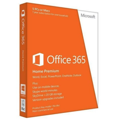 Программное обеспечение Microsoft Office 365 Home 5 User 1 Year Subscription Russian Medialess P4 (6GQ-01018)