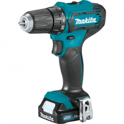 Шуруповерт Makita DF333DWAE, Blue/Black, 10.8В / 2Ah, 1700 об./мин, Li-Ion, 30/14 Нм, сталь - 10 мм / дерево - 21 мм, 1,1 кг