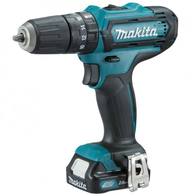 Шуруповерт ударный Makita HP331DSAE, Blue/Black, 10.8В / 2Ah, 1700 об./мин, 25500 уд./мин, Li-Ion, 30/14 Нм, сталь - 10 мм / дерево - 21 мм / камень - 8 мм, 1,1 кг