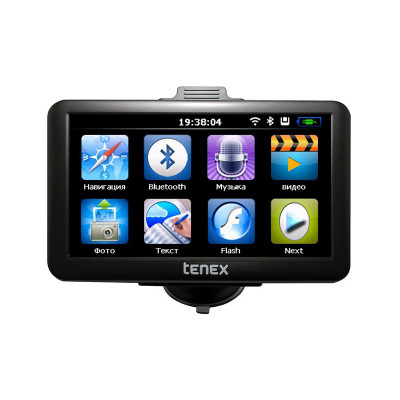 Навигатор 7' GPS Tenex 70M, Wi-Fi, процессор All Winner А13 1GHz, ОЗУ 128 Mb, 4 Gb, Micro SD Card до 32 Gb, Android, 800x480, G-sen1sor, лицензия Либель