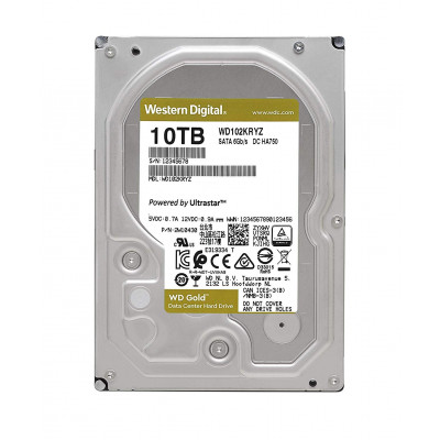 Жесткий диск 3.5' 10Tb Western Digital Gold, SATA3, 256Mb, 7200 rpm (WD102KRYZ)