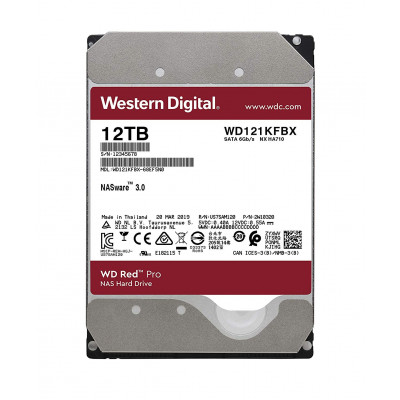 Жесткий диск 3.5' 12Tb Western Digital Red Pro, SATA3, 256Mb, 7200 rpm (WD121KFBX)