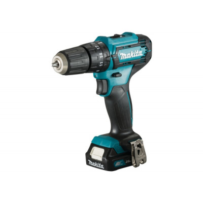 Шуруповерт ударный Makita HP333DWAE, Blue/Black, 10.8В / 2Ah, 1700 об./мин, 25500 уд./мин, Li-Ion, 30/14 Нм, сталь - 10 мм / дерево - 21 мм / камень - 8 мм, 1,2 кг