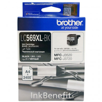 Картридж Brother LC569XL-BK, Black, MFC-J3520/J3720, 2400 стр