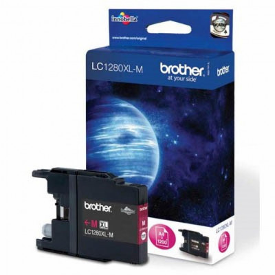 Картридж Brother LC1280XL-M, Magenta, MFC-J5910DW/J6510DW/J6710DW/J6910DW, 1200 стр
