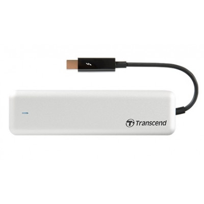 Твердотельный накопитель для Apple, 480Gb, Transcend JetDrive 855, Thunderbolt PCI-E 4x, 3D TLC, 1600/1400 MB/s + внешний карман (TS480GJDM855)