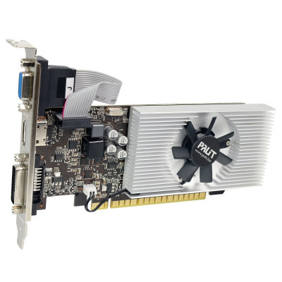 Б/У Видеокарта GeForce GT740, Palit, 1Gb DDR3, 128-bit, VGA/DVI/HDMI, 993/1782MHz (NEAT7400HD01-1070F)