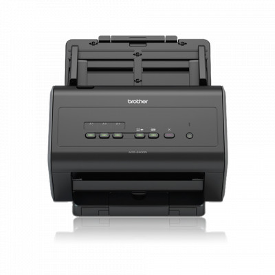 Документ-сканер Brother ADS-2400N, Black, A4, CIS, 600х600 dpi, дуплекс, USB / Lan, 306x258x250 мм, 4.45 кг (ADS2400NUN1)