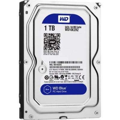 Жесткий диск 3.5' 1Tb Western Digital Blue, SATA3, 64Mb, 5400 rpm (WD10EZRZ)