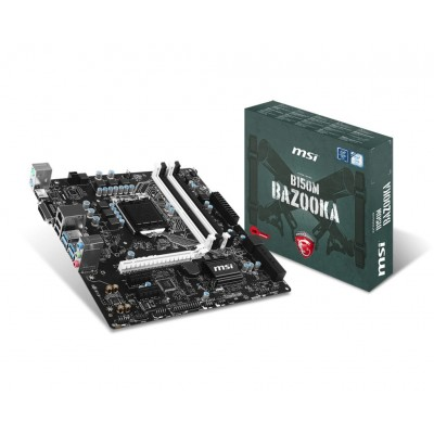 Мат.плата 1151 (B150) MSI B150M BAZOOKA, B150, 4xDDR4, Int.Video(CPU),
