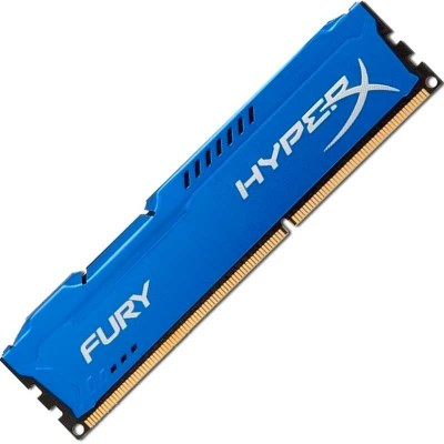 Память 4Gb DDR3, 1866 MHz, Kingston HyperX Fury, Blue, 10-11-10-30, 1.5V, с радиатором (HX318C10F/4)