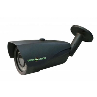 Камера наружная AHD Green Vision GV-048-AHD-G-COS13V-40, Gray, 1/3' IMX225, 960P / 25 fps, f=3.6 mm, 0.01 Lux, ИК подсветка до 30 м, IP65, 1850 г