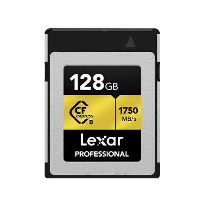 Карта памяти CompactFlash, 128Gb, Lexar Professional CFexpress Type B, PCIe Gen3x2, 1750 / 1000 MB/s (LCFX10-128CRB)